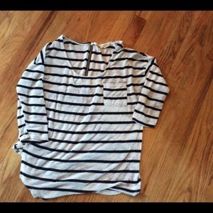 Paper & Tee Shirt Zip back Sz m